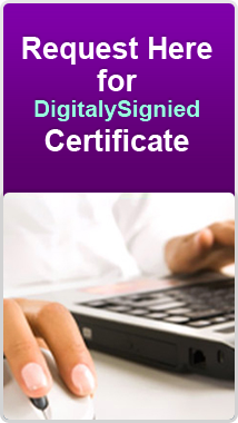 digitally signed certificates